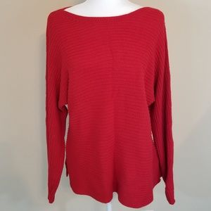 A.N.A XL RED LONG SLEEVE KNIT SWEATER
